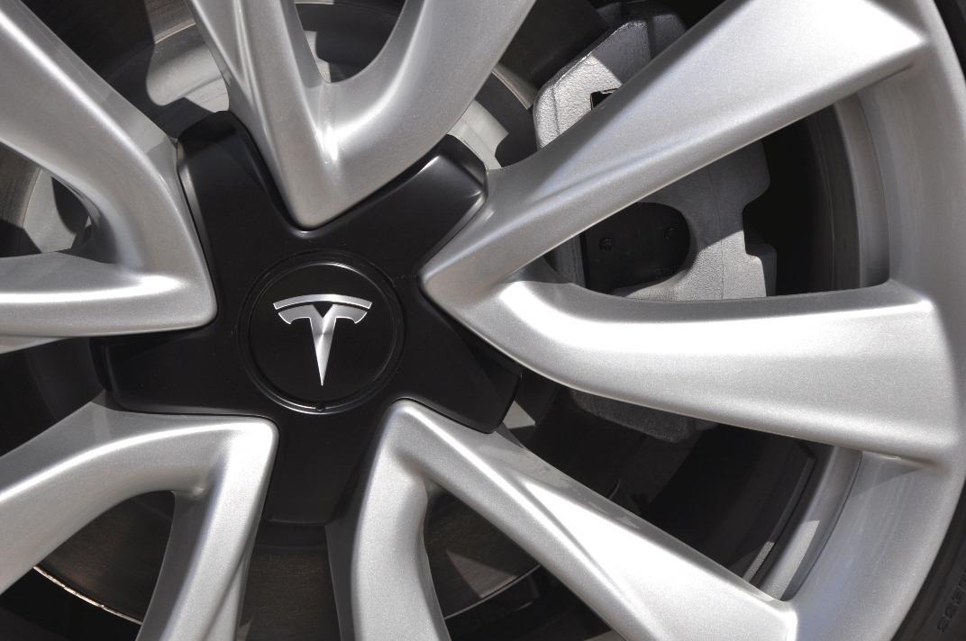Rad Tesla Model 3 close up
