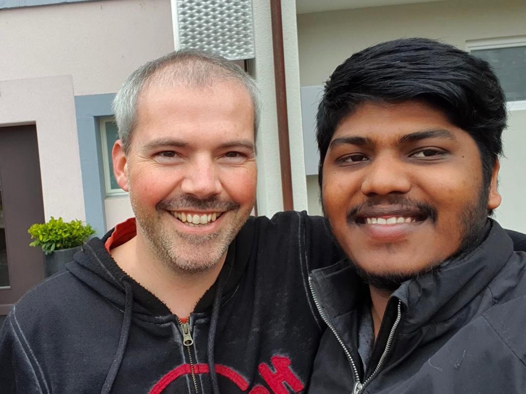 Selfie von Uber-Fahrschüler Kerupeen und Jörg