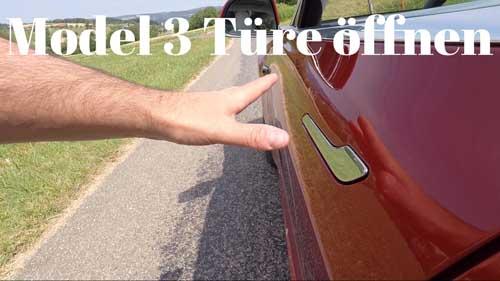 Thumbnail Tesla Model 3 Türe öffnen